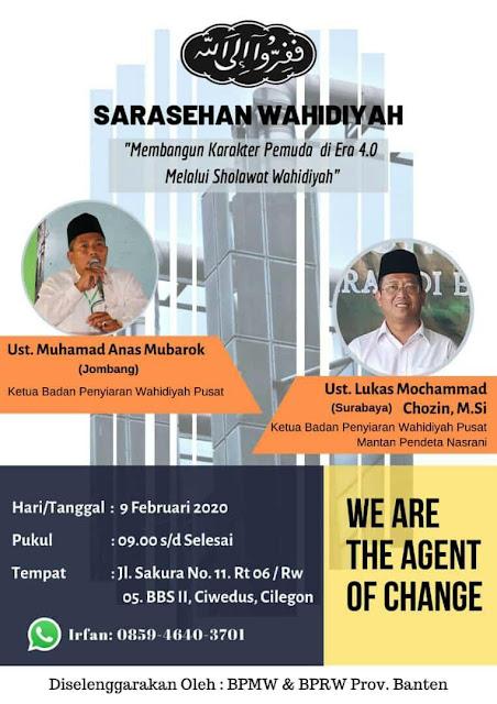 Contoh Pamflet Kegiatan Wahidiyah