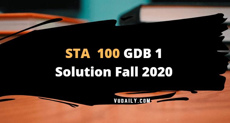 Sta 100 GDB 1 Solution Fall 2020