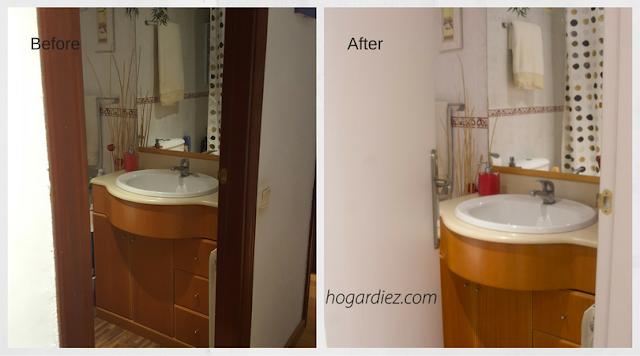 Antes y después de mis puertas lacadas en blanco