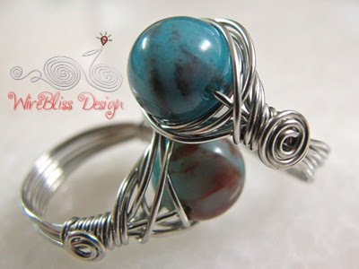 Wire wrapped Twice Around the World (TAW) Rings
