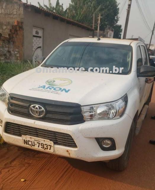 Veículo da frota do Governo é furtado em Ji-Paraná  e recuperado em Guajará-Mirim