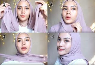 tutorial hijab segi empat sederhana terbaru simpel