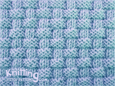 Pie Crust Basketweave Knitting Stitch Patterns
