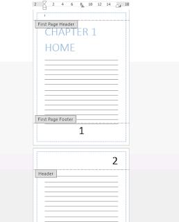 Cara Membuat Letak Nomor Halaman Pertama Yang Berbeda Pada Setiap Bab