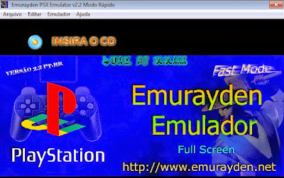 Emulador do PS1 Emurayden pronto para jogar