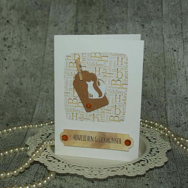 [DIY] Herzlichen Glückwunsch kleiner Fuchs! Grußkarte in gedeckten Brauntönen (auch für Männer!)