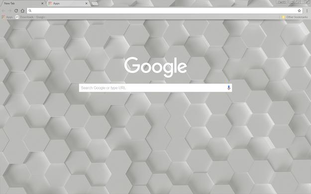 White Hex Google Theme