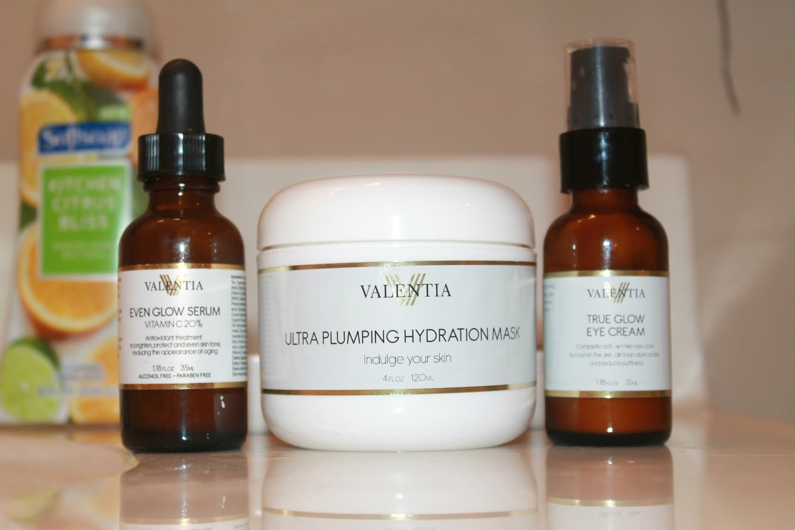 Get Glowing Skin With Valentia Seersucker Sass Serum Even Glow Ultra Plumping Hydration Mask True Eye Cream