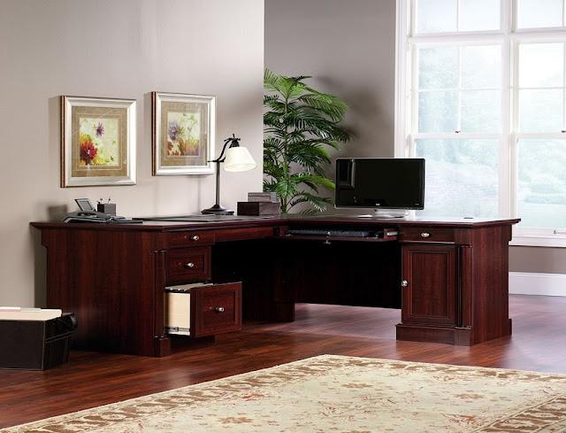 best buy corner home office desks in cherry for sale