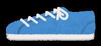 横から見た靴のイラスト(スニーカー・青)