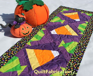 HALLOWEEN TABLE RUNNER-CANDY CORN-CANDY QUILT-QUILT PATTERN-HALLOWEEN DECORATION