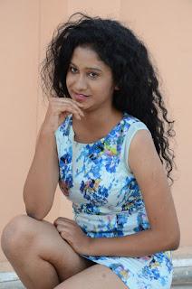 Actress Priyankha Stills in Floral Short Dress at Golmal Gullu Movie Pressmeet 0253.JPG