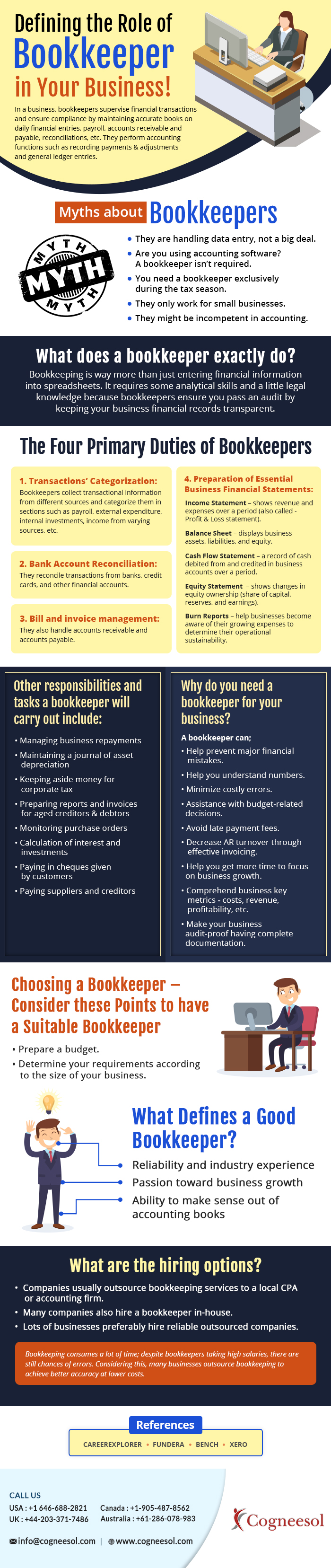 Defining the Role of Bookkeeper in Your Business! #infographic