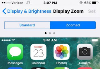 iphone display zoom settings screen shot