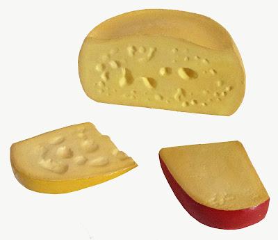 replicas de alimentos, replica de quesos