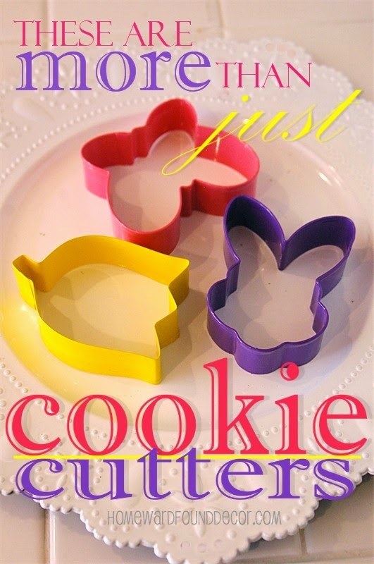 use holiday cookie cutters for napkin rings, tree ornaments, and more - all year long!