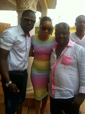 Mr Ibu Spotted With Pokello And Elikem In Ghana [PHOTOS].