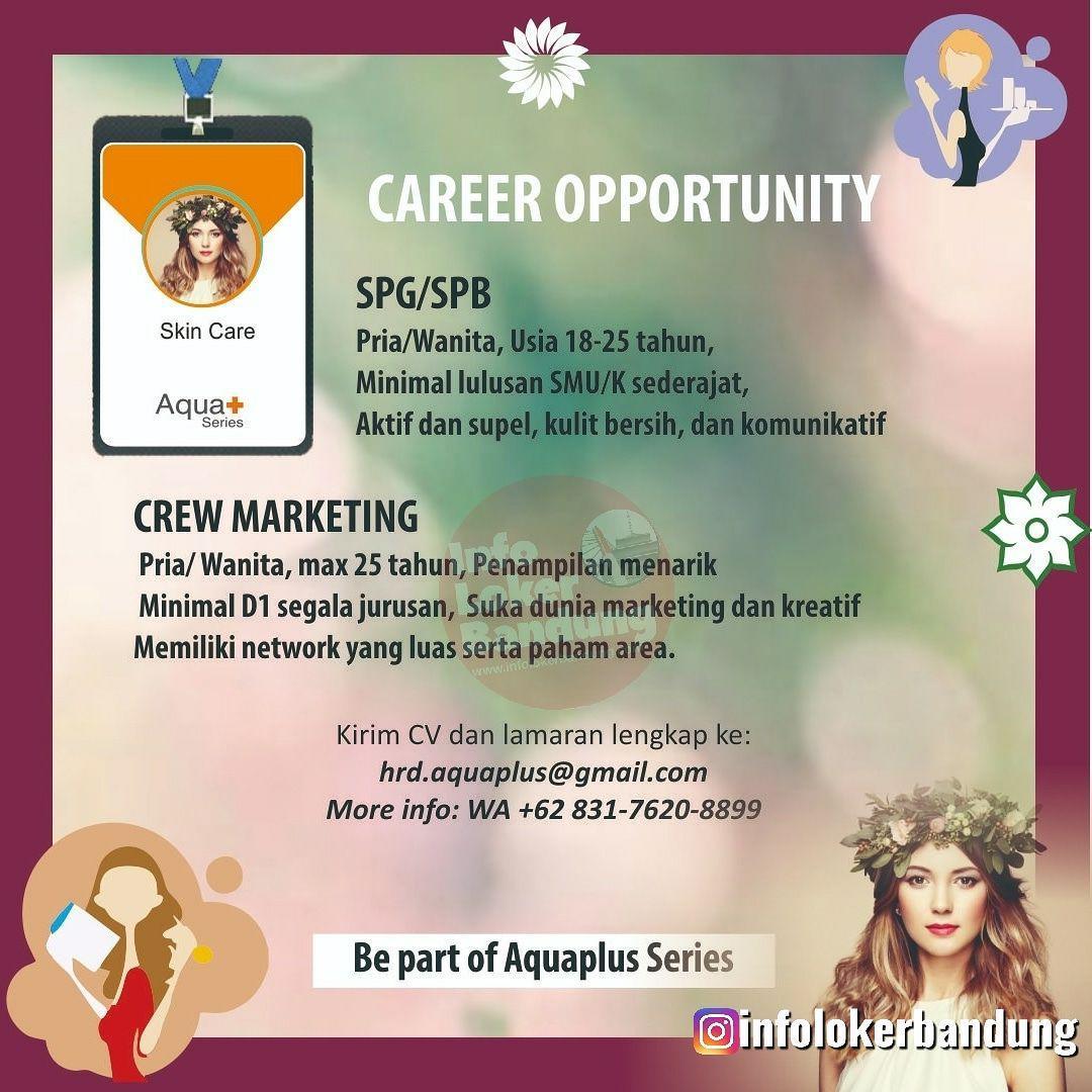 Lowongan Kerja Aquaplus Bandung Juli 2019