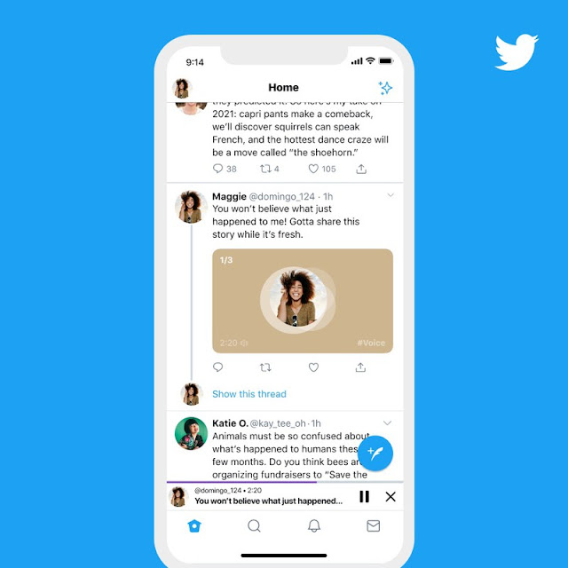 Twitter rolls out voice tweets