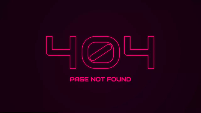 Neon Effect - 404 Page Not Found