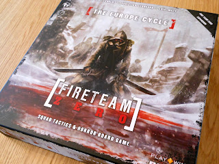 The box for Fireteam Zero: The Europe Cycle, showing Rat covered in gore behind enemy lines.