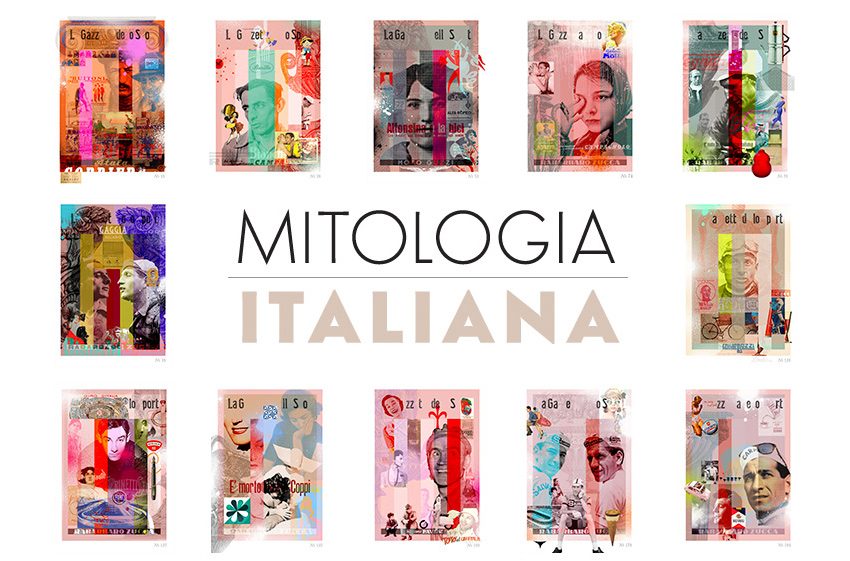 Mitologia Italia - a collection of artworks by James Straffon focussing on Italian culture and the Giro d'Italia.