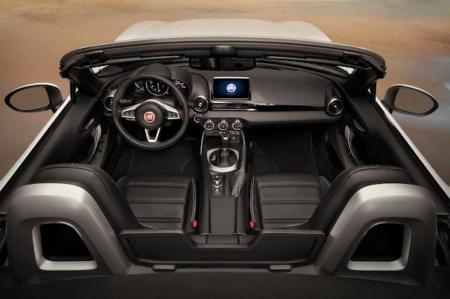 Interior view of 2018 Fiat 124 Spider Lusso