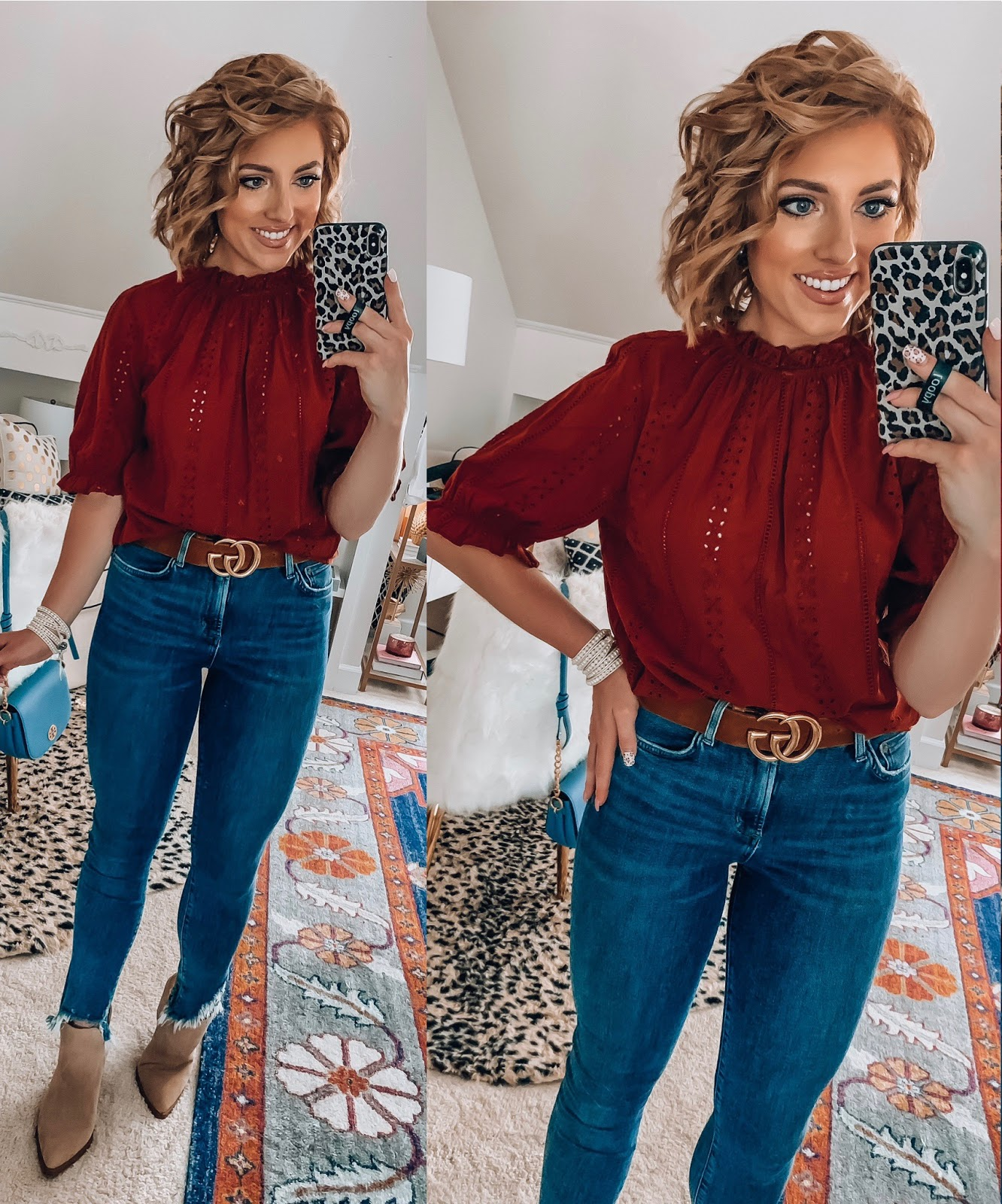 Target Fall Finds: Part One - Under $30 Eyelet Ruffle Top - Something Delightful Blog