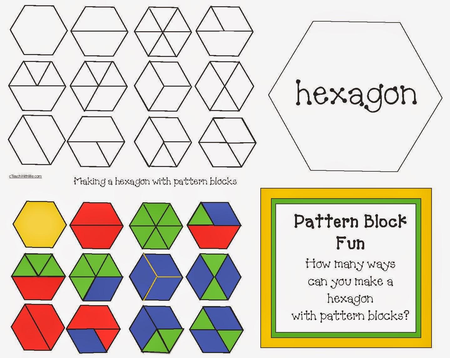 Classroom Freebies Hexagon Pattern Block Game