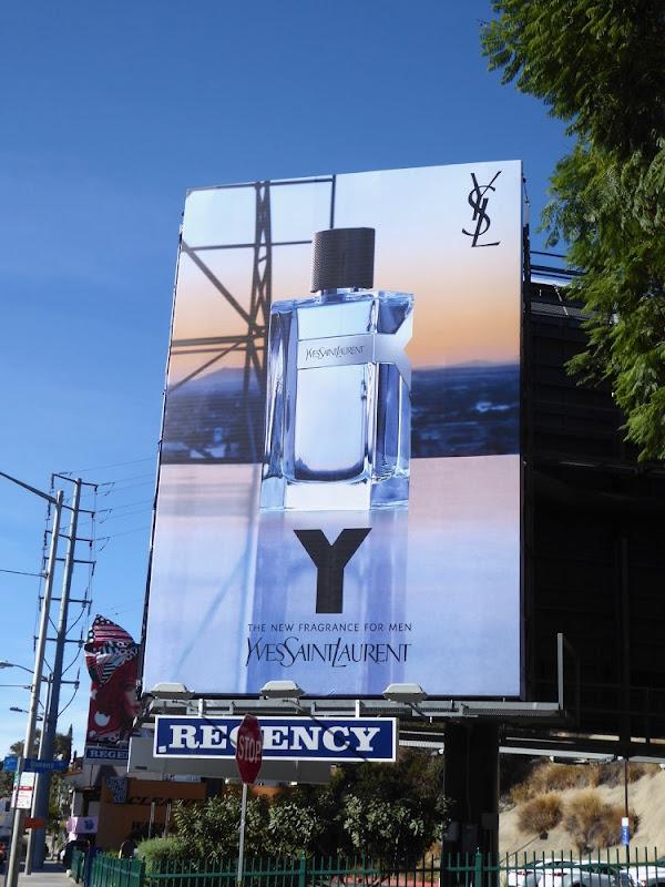 Y Yves Saint Laurent mens fragrance billboard
