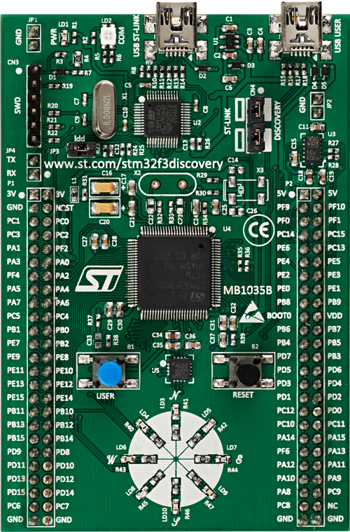 Scot Kornak's ProtoBlog: STM32 Discovery-F3 and Discovery-F4