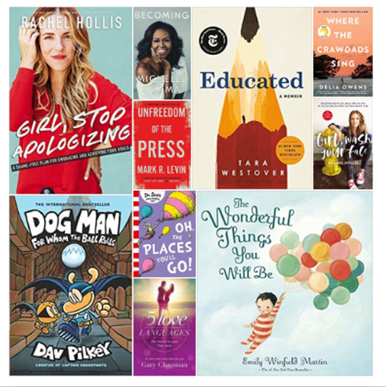 Top Bestsellers Books of 2019 (So Far)  Available on amazon