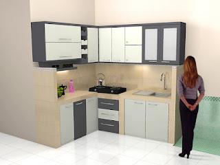 Kitchen Set Warna Hitam Putih Monokrom Agar Dapur Lebih Rapi - Furniture Semarang