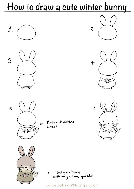Easy cute drawing for beginners. Step by step drawing tutorials