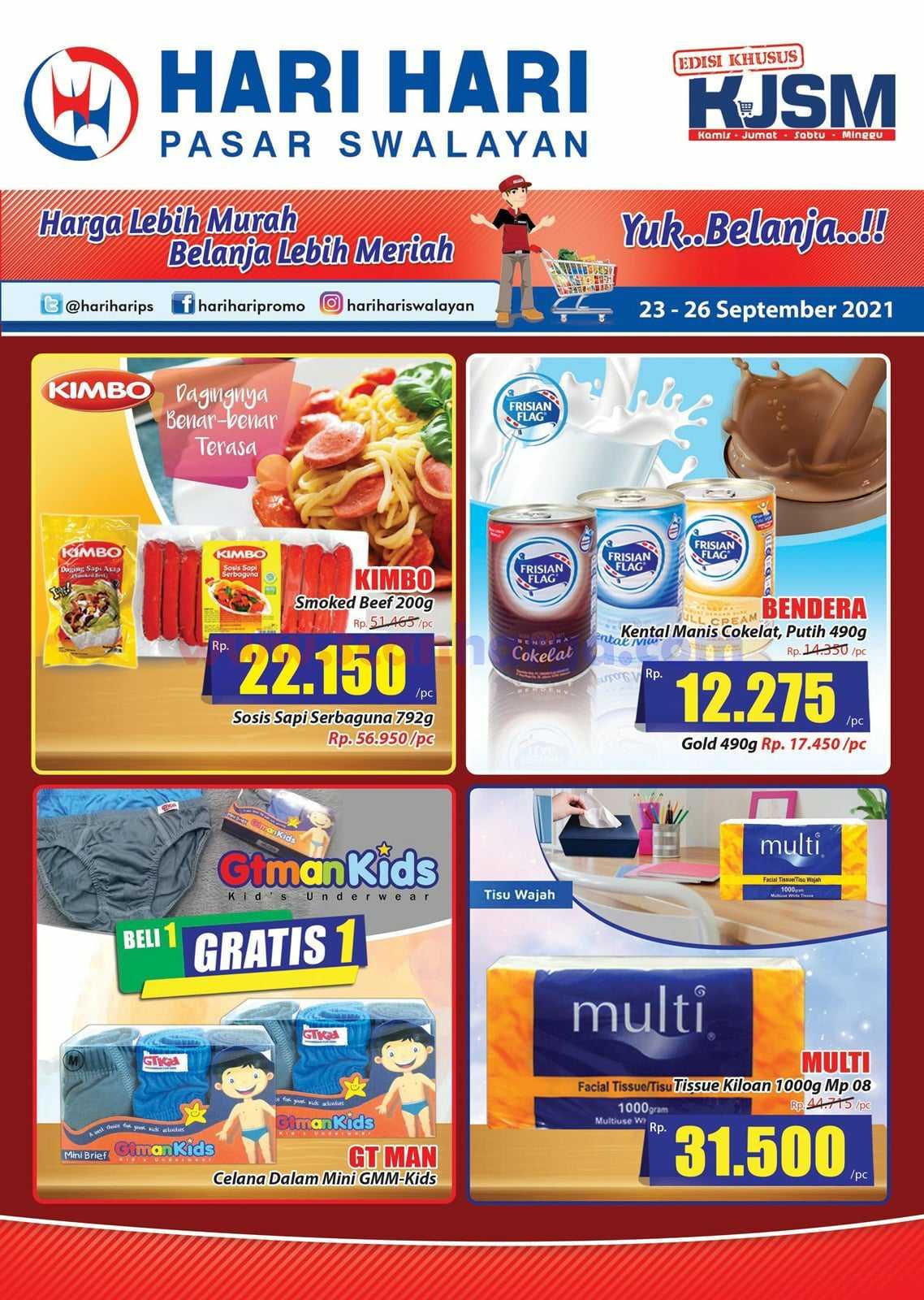 Katalog Promo JSM Hari Hari Swalayan Weekend 23 - 26 September 2021 1
