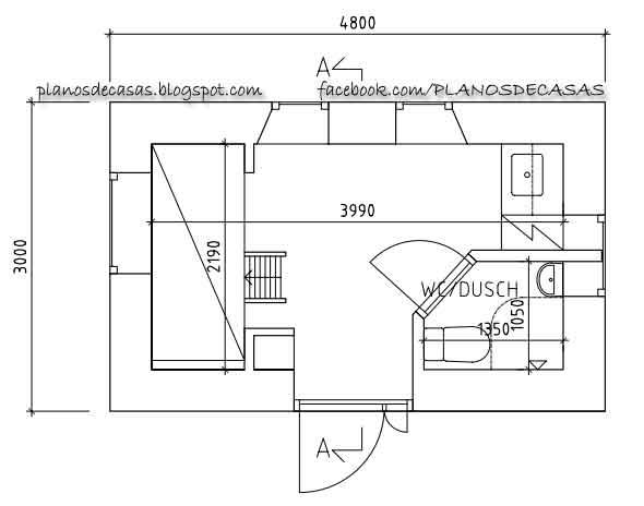 Planos de casa peque a 12m2 planos de casas gratis y for Distribucion oficinas pequenas