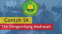 Contoh Format SK Tim Pengembang Madrasah Terbaru