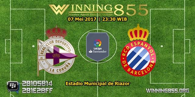 Prediksi Skor Deportivo La Coruna vs Espanyol 07 Mei 2017