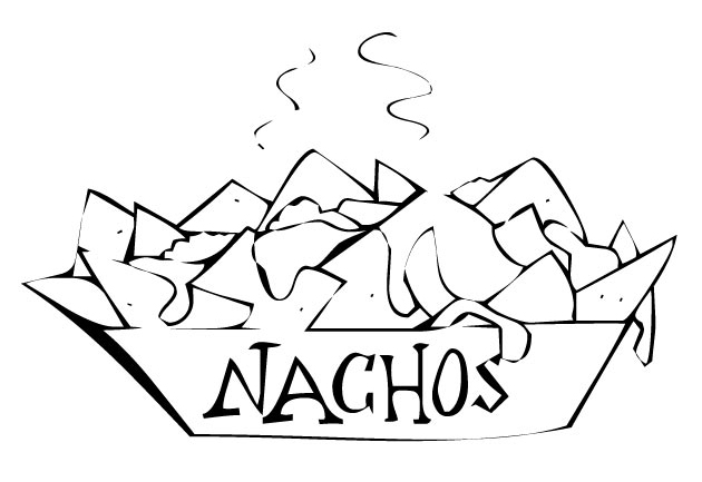 The 2012 mascots free colouring pages for Nachos coloring page