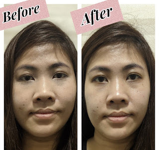 MKUP Super Hyaluronic Acid Real Complexion Cream SPF 30 before and after