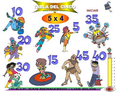 http://www3.gobiernodecanarias.org/medusa/eltanquematematico/preguntatablas/cinco/cinco_p.html