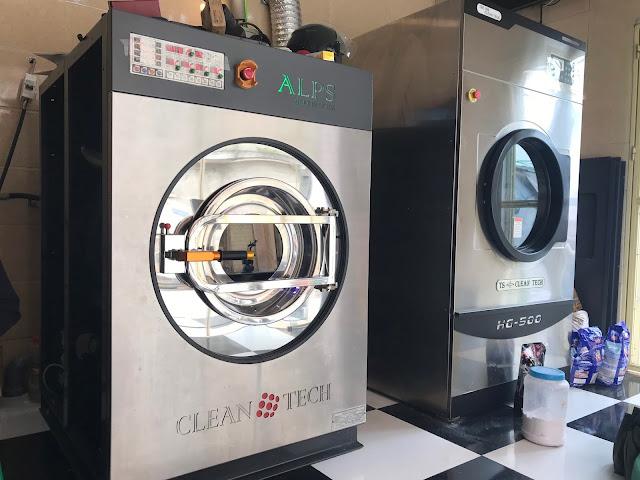 Máy giặt công nghiệp lắp đặt cho Trung tâm y tế