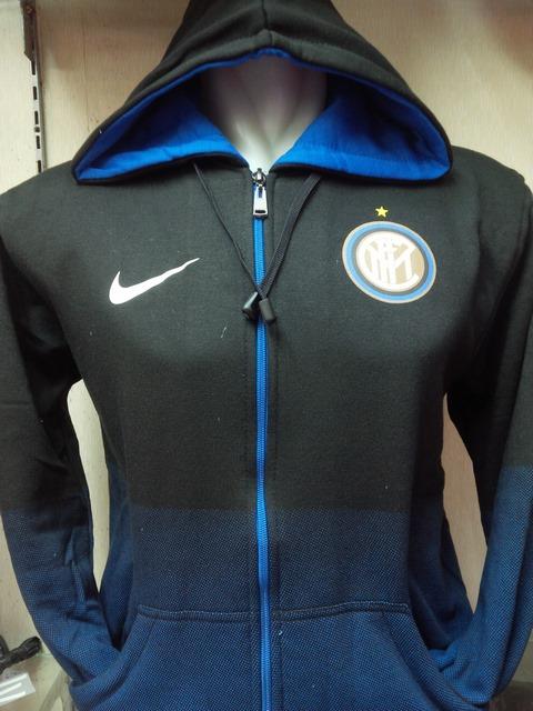 Jual jaket Hoodie Inter Milan warna hitam gradasi biru