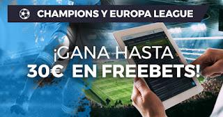 Paston promo Champions y Europa League 10-12 diciembre 2019