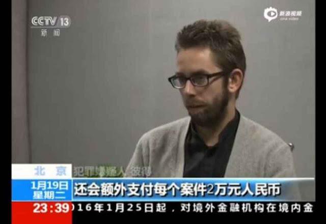 Peter Dahlin foi obrigado a fazer uma 'autocrítica' pela TV oficial CCTV, e logo depois foi liberado e deportado.