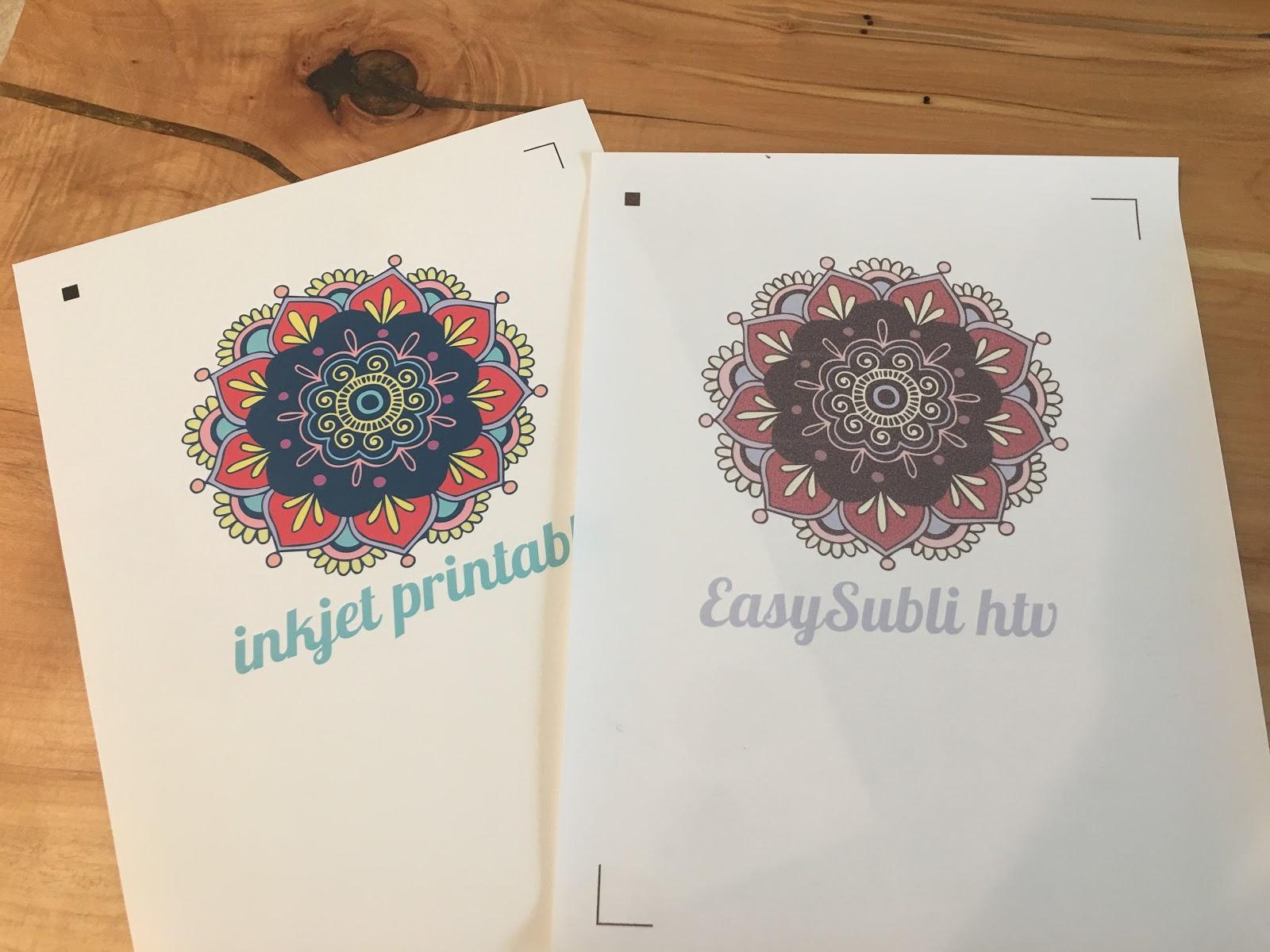 graphic about Starcraft Inkjet Printable Transfers known as Inkjet Printable HTV vs Siser EasySubli Warm Shift