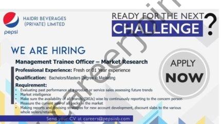 Haidri Beverages Pvt Ltd Jobs Management Trainee Officer Market Research