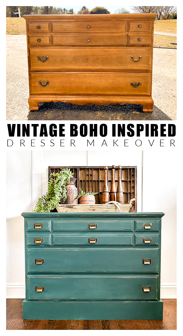 Dated dreser makeover before and after