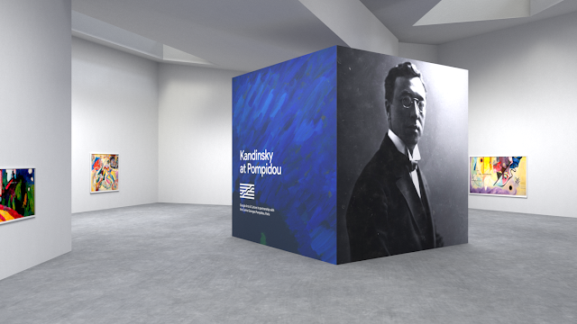 Screenshot der Pocket Gallery zu der Kandinsky Ausstellung