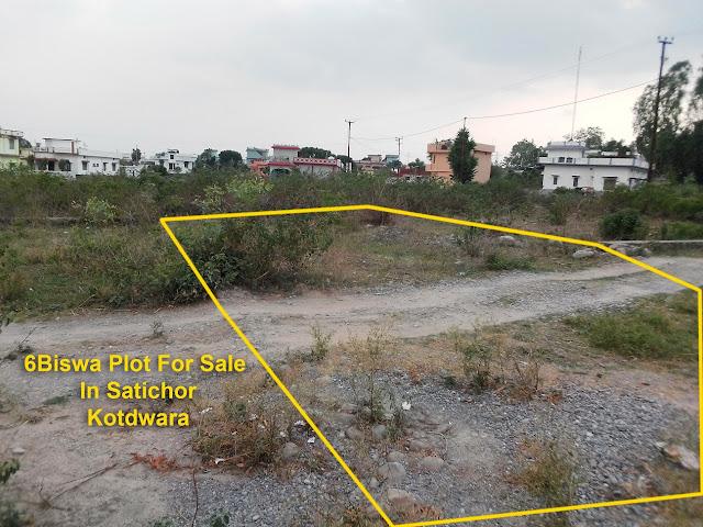 6Biswa Plot For Sale/Sell In Satichor, Kotdwara, Pauri Garhwali Uttarakhand